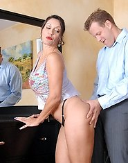 Busty Anilos Persia Monir enjoys swallowing a stiff cock before she gets fucked by her stud