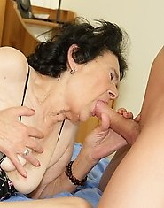 This granny gets fucked by her boy toy